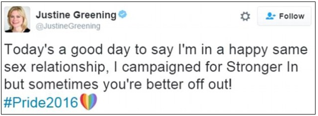 Greening tweet