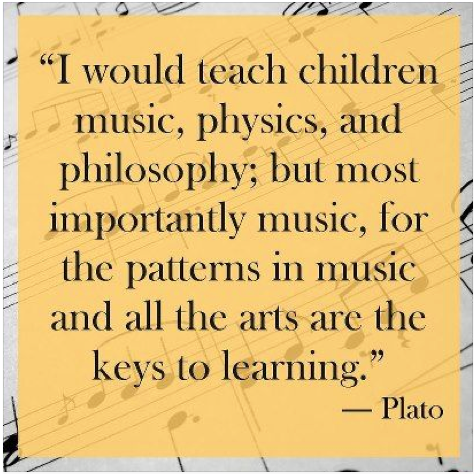I woudl teach children Music = Plato