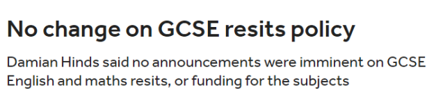 GCSE no