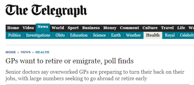 Telegraph GPs headline